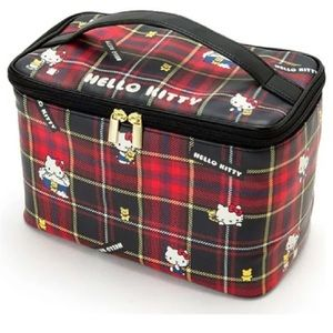 Hello Kitty Bags - Hello kitty Royal Stewart print make up case.